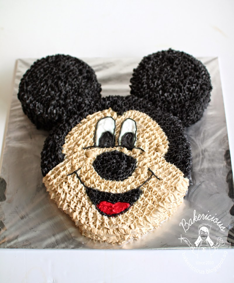 Bakericious Mickey Mouse Cake Chocolate Sponge Cake