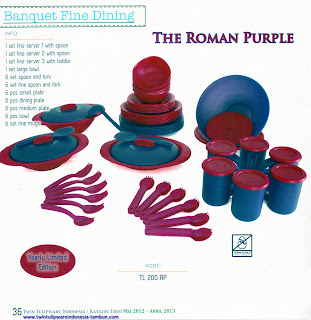 Info & Harga Twin Tulip Tulipware 2013 : Banquet Fine Dining | The Roman Purple - Yearly Limited Edition