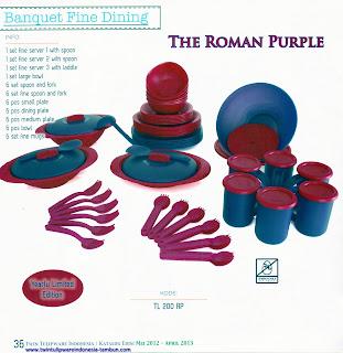 Info & Harga Twin Tulip Tulipware 2013 : Banquet Fine Dining | The Roman Purple - Yearly Limited Edition