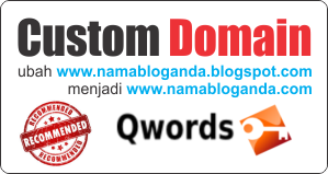 Custom Domain - Alamat Blog dengan Nama Domain Sendiri