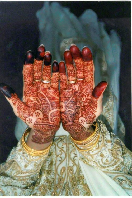 Dulhan Mehndi design wid color
