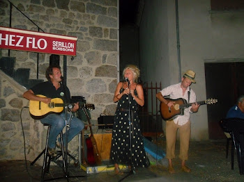 Singing at Cafe Flo, St Pierreville