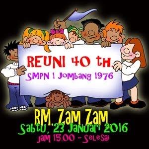 Reuni SMPN 1 Jombang