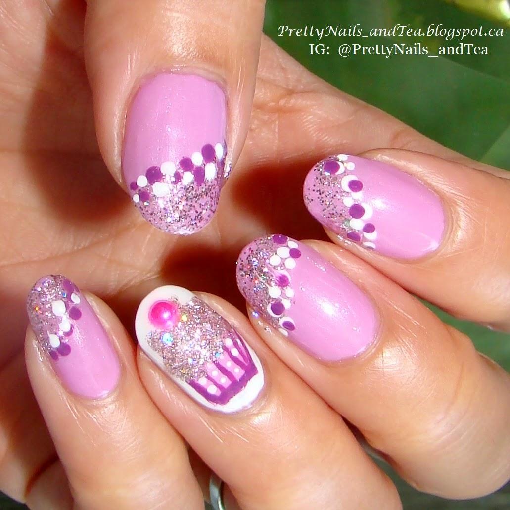 sparkly lavender cupcake