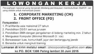 Loker Perusahaan Pembiayaan Palembang