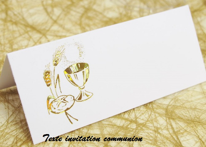 Fabulous SMS, Message et Texte d'invitation: TEXTE INVITATION COMMUNION OR95