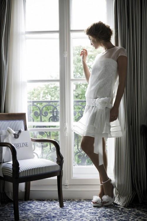 vestido corto novia cymbeline