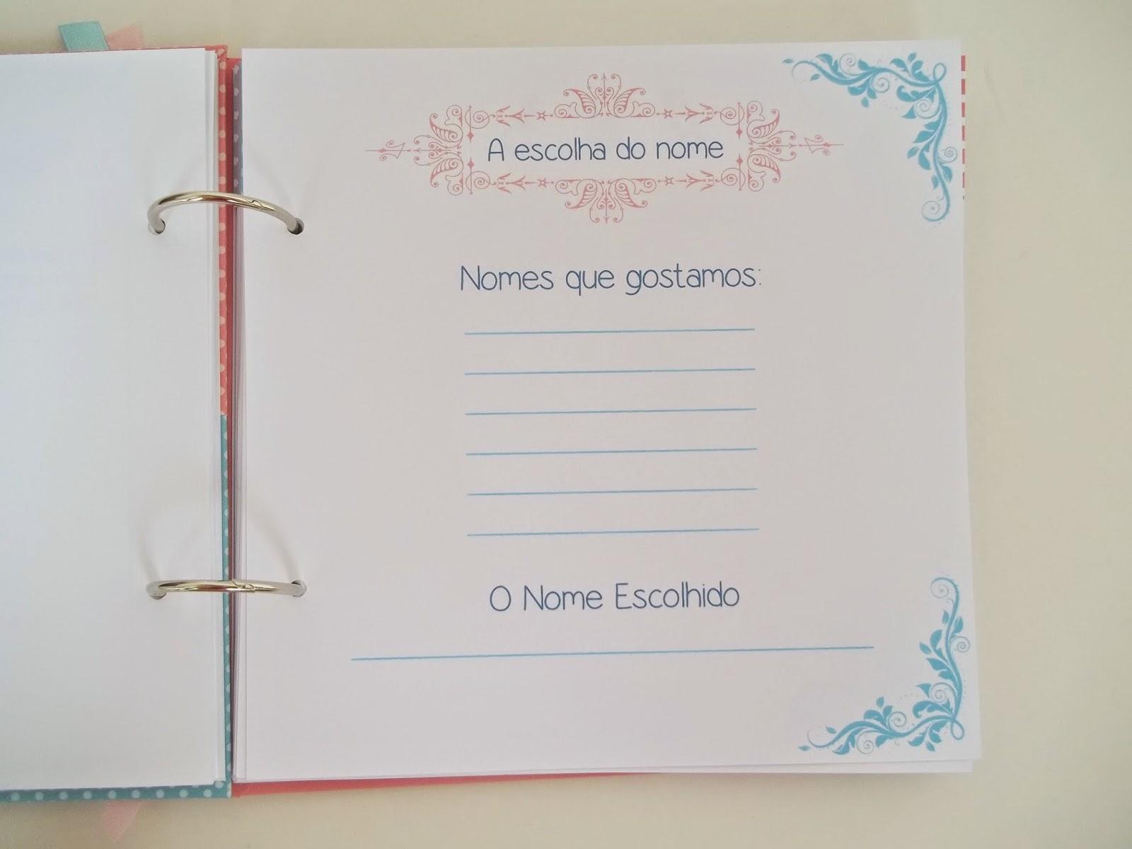 meu diário de gravidez, diário da gravida, diário gestante, scrapbook ,rosa, azul, personalizado