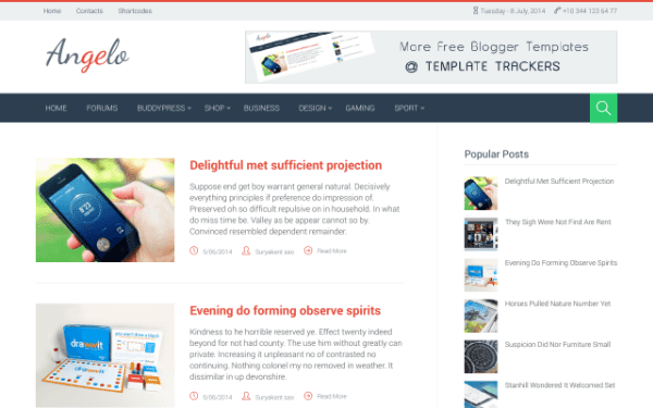 Angelo blogger template