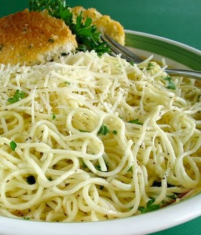 Angel Hair Pasta In Garlic Sauce