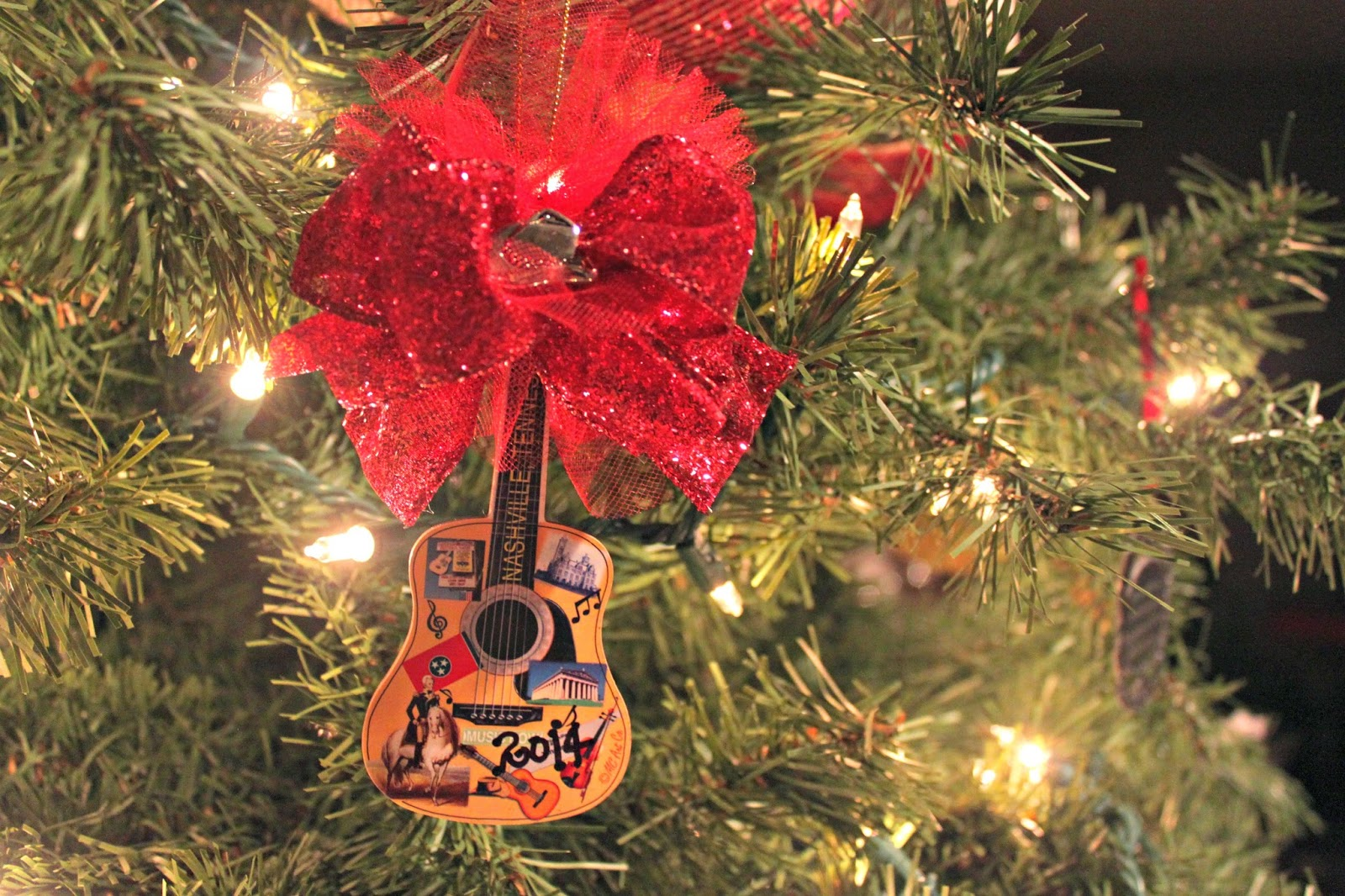 Christmas Tradition, Guitar, Country Music Ornament