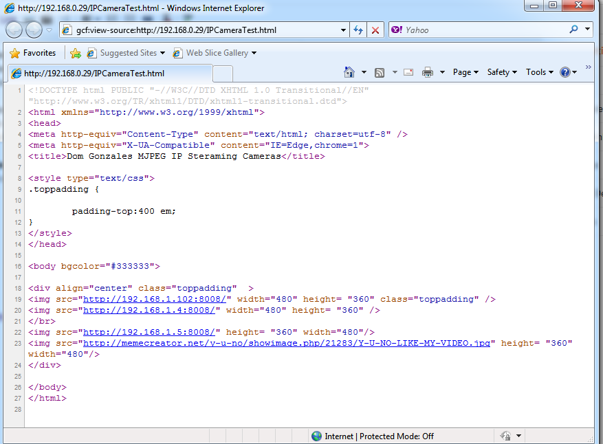 DomGonzales Random IT Blog: MJPEG Video Streaming with IE and Google ...