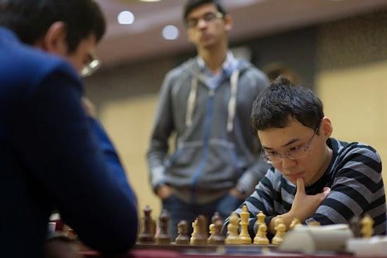 Le Russe Vladimir Kramnik dominé par le Chinois Yu Yangyi - Photo © Maria Emelianova