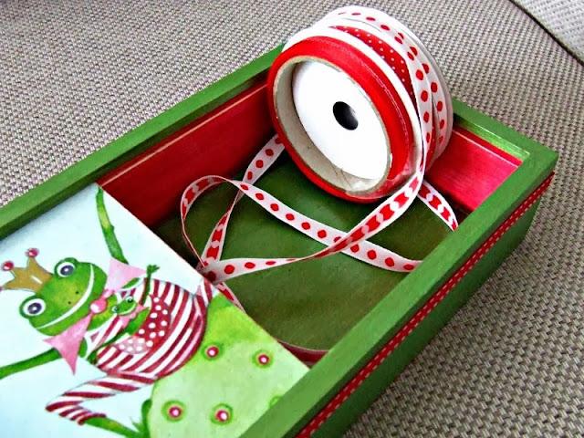 decoupage pudełko na kredki decoupage boc for children by Eco Manufaktura