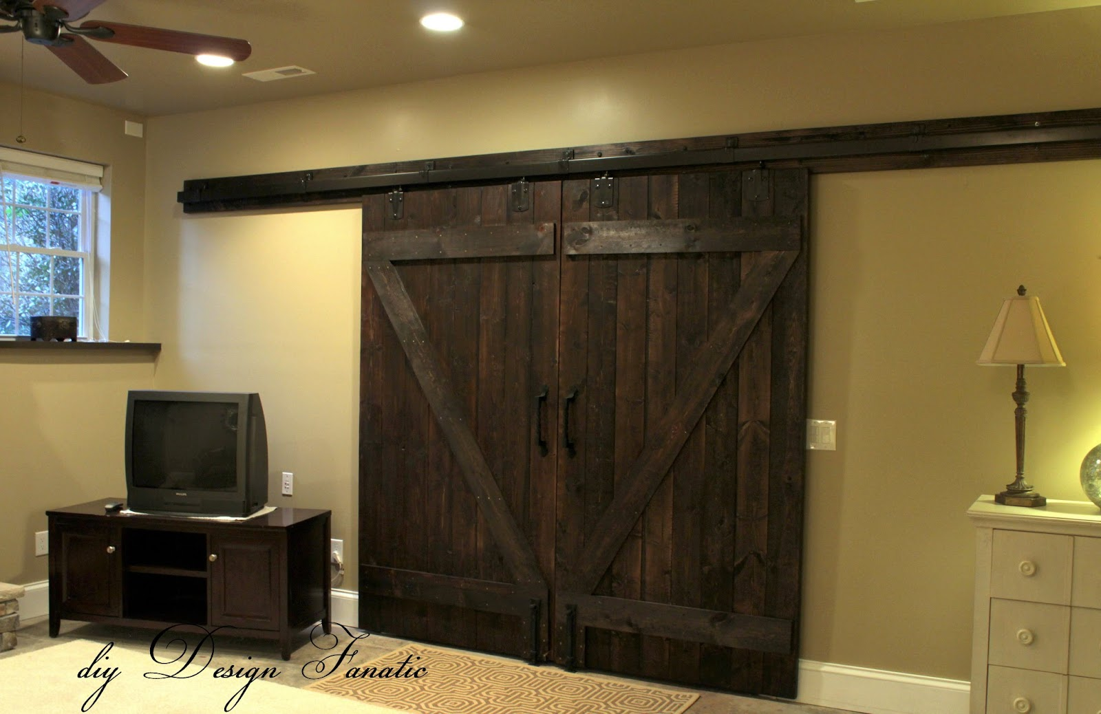 Decorating barn door handles pictures diy Design Fanatic: Barn Doors Completely Finished!