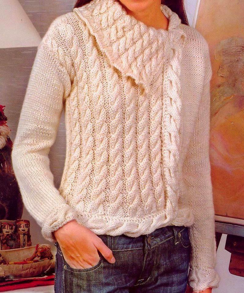 Мое вязание теплый джемпер