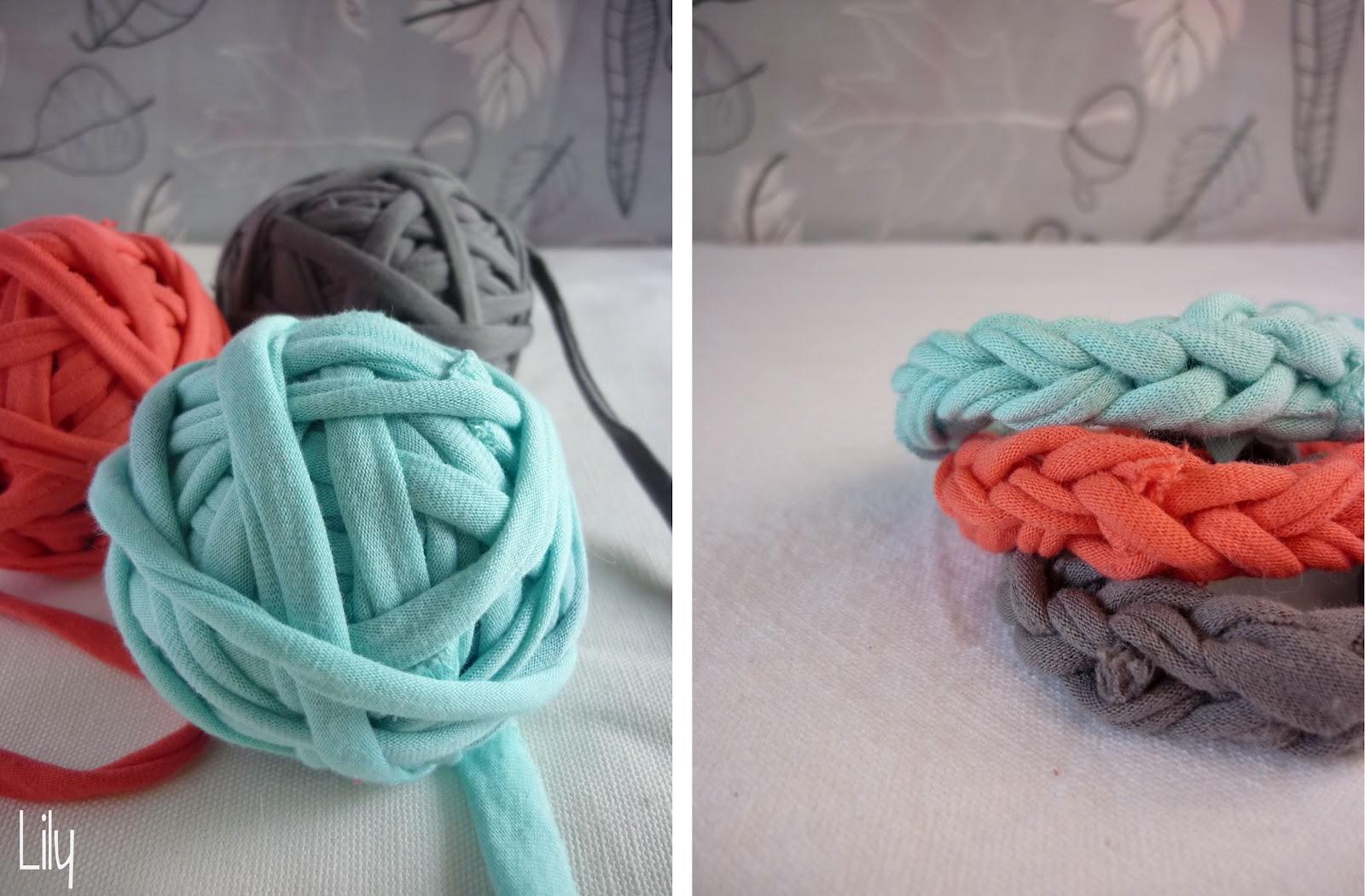 tricoter avec du tissu
