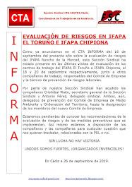EVALUACIÓN DE RIESGOS EN IFAPA EL TORUÑO E IFAPA CHIPIONA