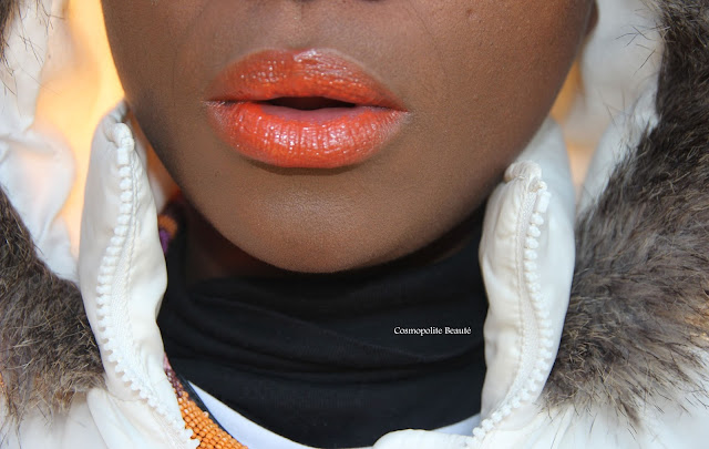 Cosmopolitan beauty, lips, lèvres, blackbeauty, beauté noire, cosmopolite beauté, orange is the new black, rouge à lèvres orange, orange, maquillage orange, makeup orange, orange lipstick
