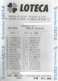 LOTECA 621 - DRAGOLINOS DO FLORENÇA