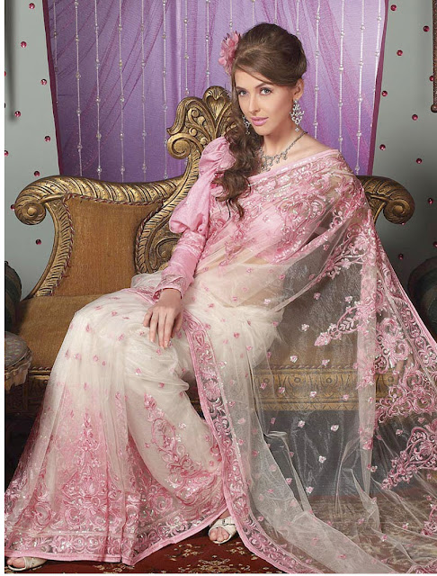 Pink-Style-Net-Sarees