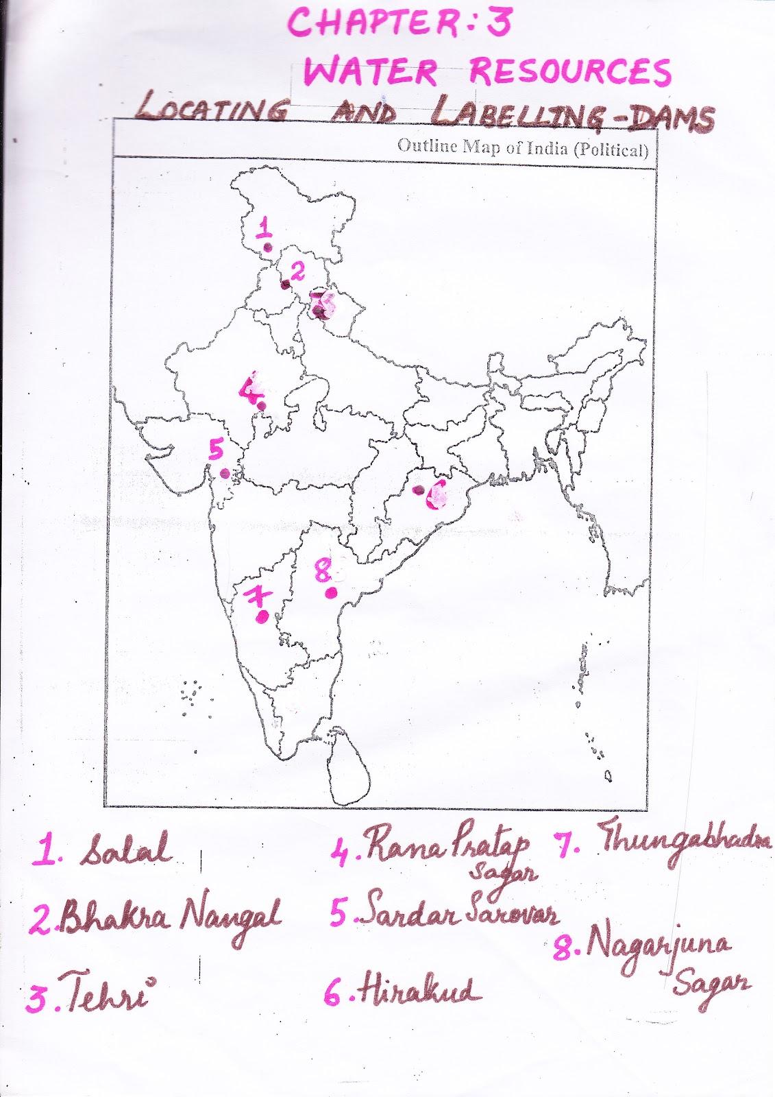 Bhakra Nangal Dam Map