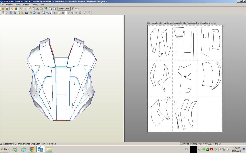 Iron man concept pepakura for Plan d iron man