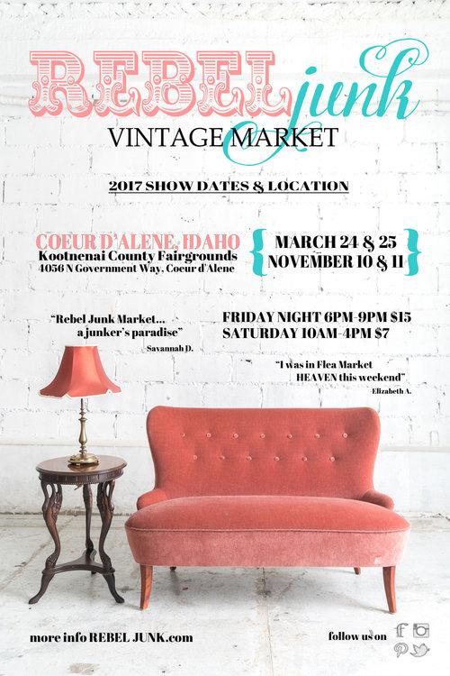 Rebel Junk Vintage Market: Coeur d'Alene, ID