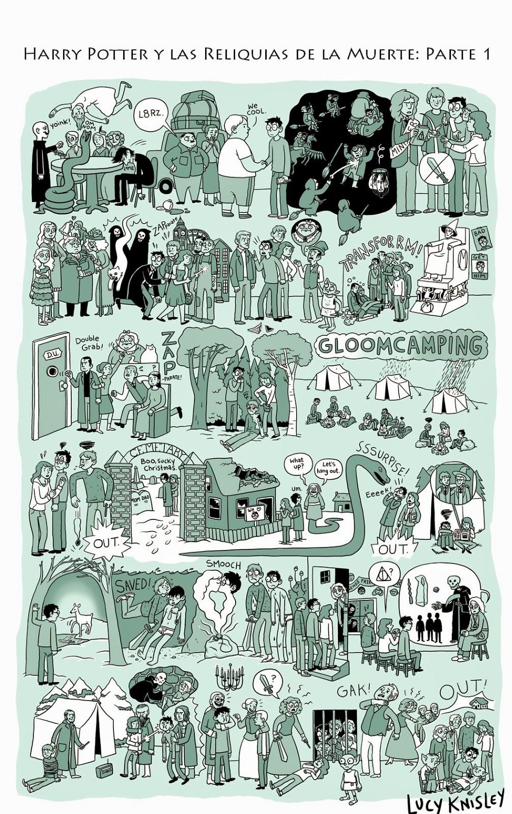viñeta resumen - Harry Potter y las reliquias de la muerte: parte 1