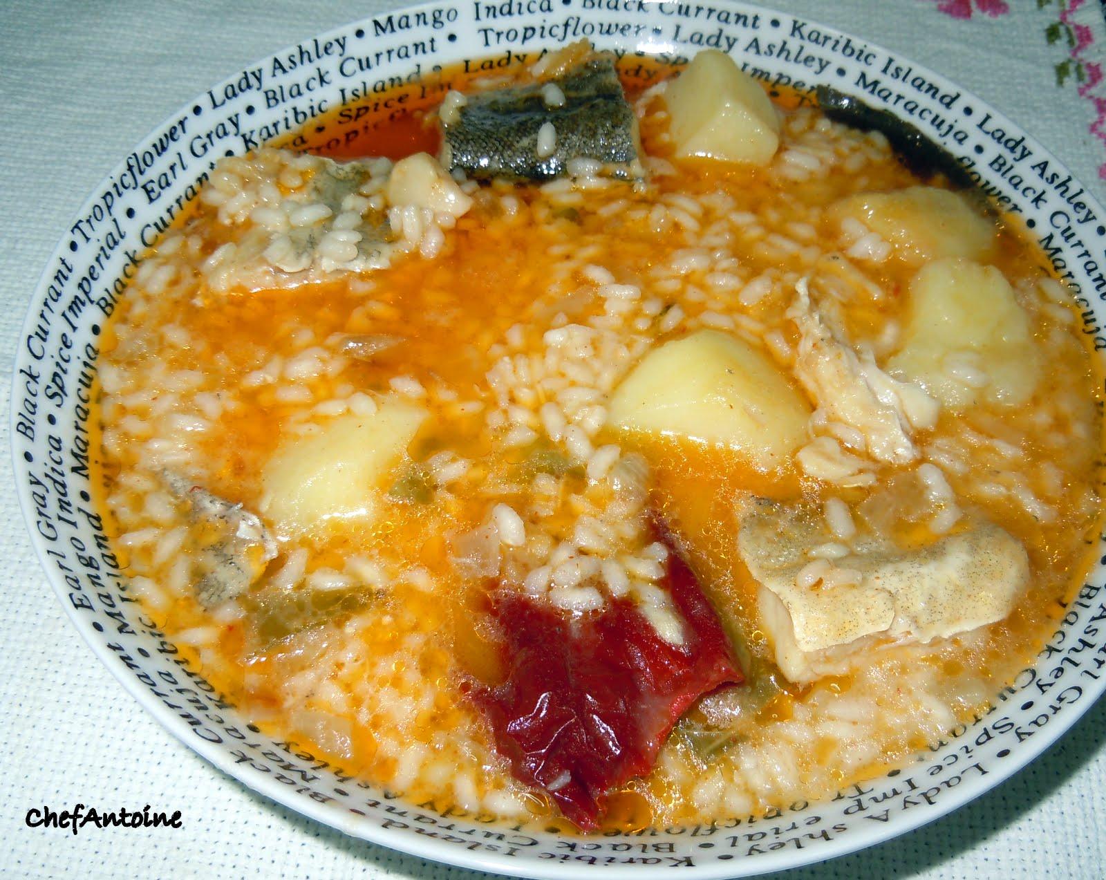 Chefantoine patatas con arroz y bacalao - Cuanto tarda en cocer una patata ...