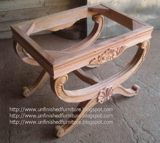Unfinished furniture wooden frame mahogany made in indonesia