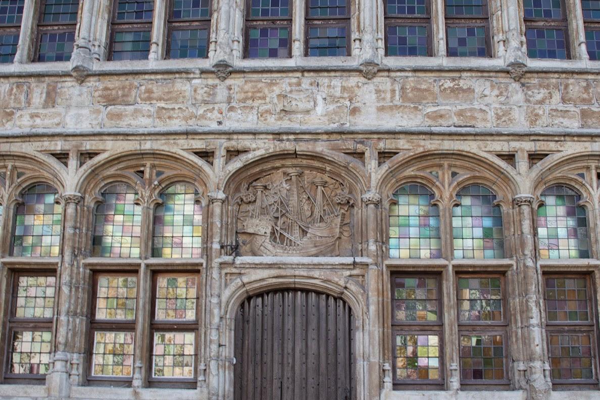 very old glass windows