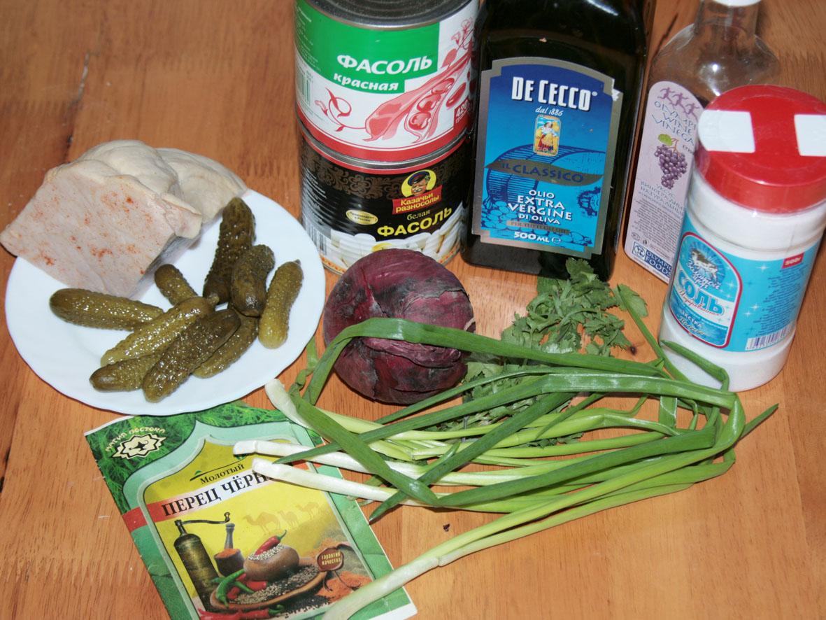 салат из красной фасоли консервированной рецепты просто и вкусно
