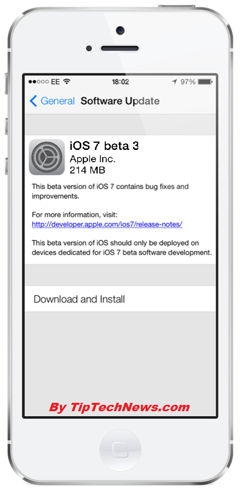 iOS 7 Beta 3 Downloand