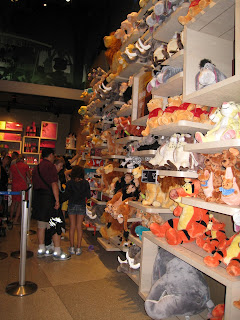 Disney Wall of Stuffed Animals