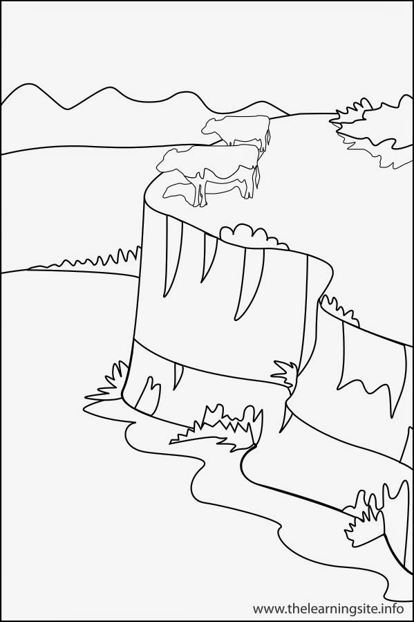 valley landforms coloring pages - photo#8