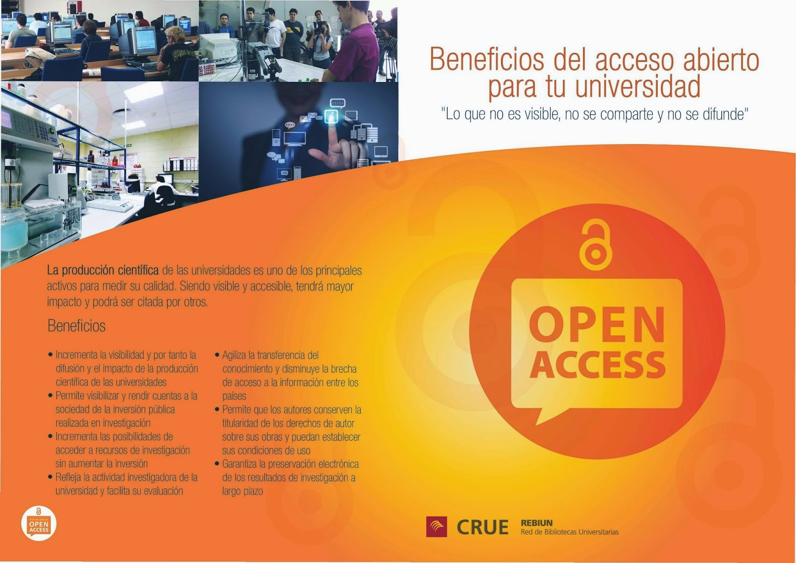 """""""Beneficios del acceso abierto para tu universidad""""."""