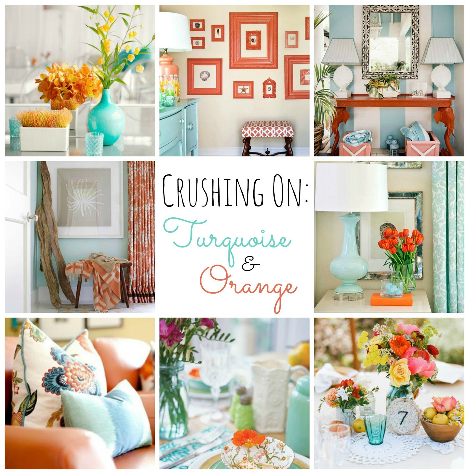 Displaying 18 gt images for brown orange and turquoise living room