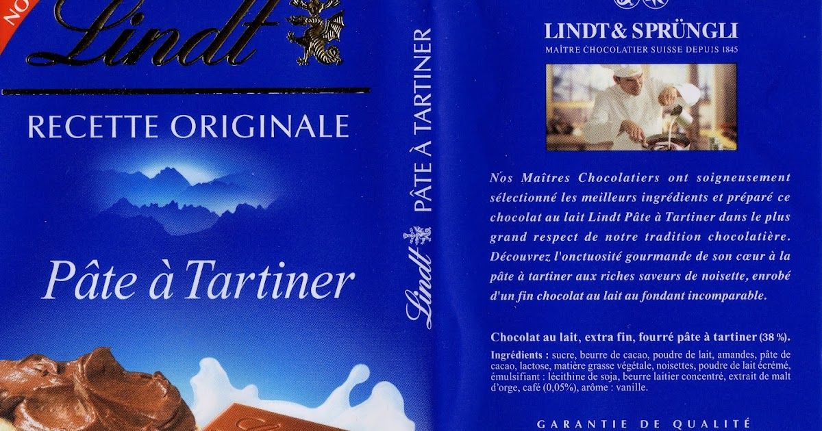 lindt recette originale p 226 te 224 tartiner tablette de choc