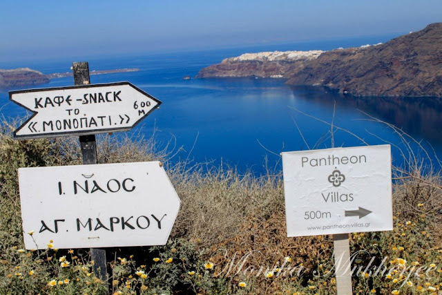 Hike from Fira to Oia in Santorini Greece by Monika Mukherjee