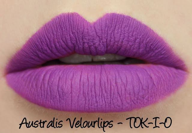 Australis Velourlips Matte Lip Cream - TOK-I-O Swatches & Review
