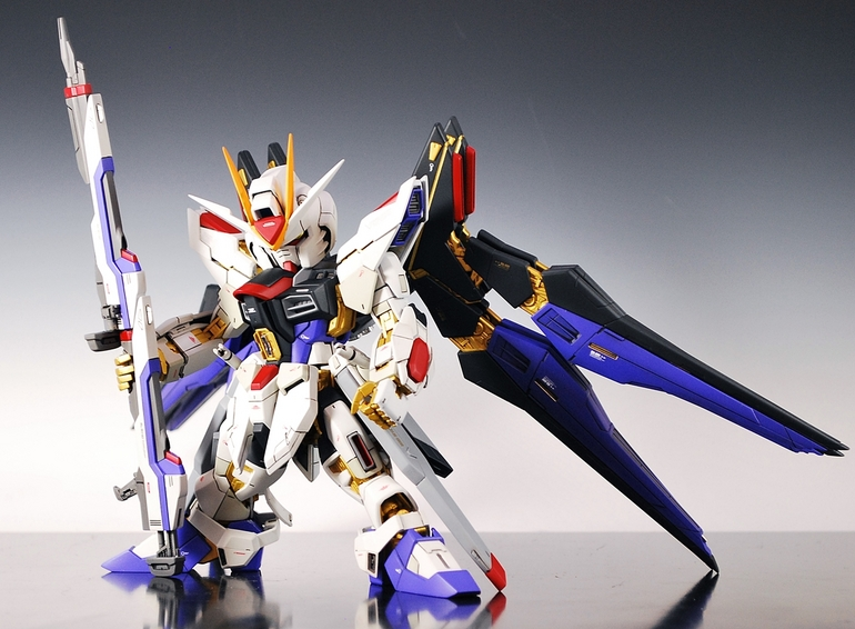 GUNDAM GUY: MG + SD Strike Freedom Gundam - Custom Build