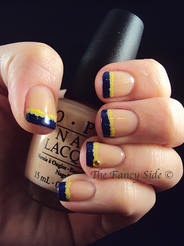 The Fancy Side: French Tips in School Colors