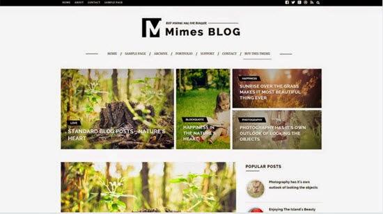 MIMES-BLOG MULTIPURPOSE BLOGGER TEMPLATE