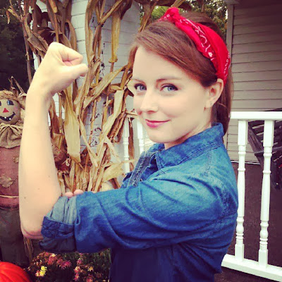 Rosie the Riveter costume, Halloween, we can do it, easy costumes