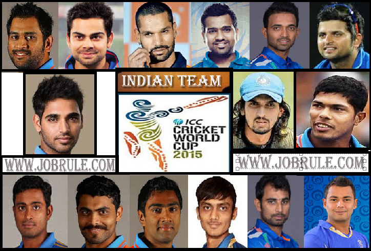 BCCI Announced Cricket World Cup 2015 Indian 15 Man Squad | Yuvraj & Vijay Out From Australia-New Zealand World Cup 2015