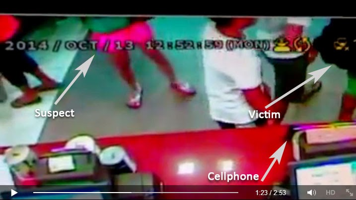Woman Steals Customer's Cellphone at Restaurant in SM City Tarlac