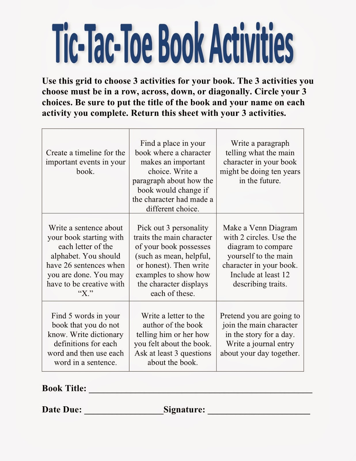 book report tic tac toe Hey guys, this post will be dedicated to my new java tic-tac-toe project i have already created a tic-tac-toe game in java but it was not how i.