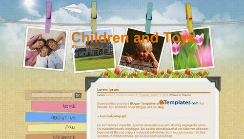 plantilla gratis children and toys