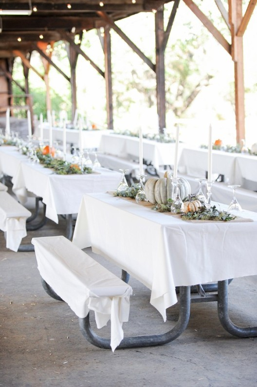 decorar espacio de boda con calabazas